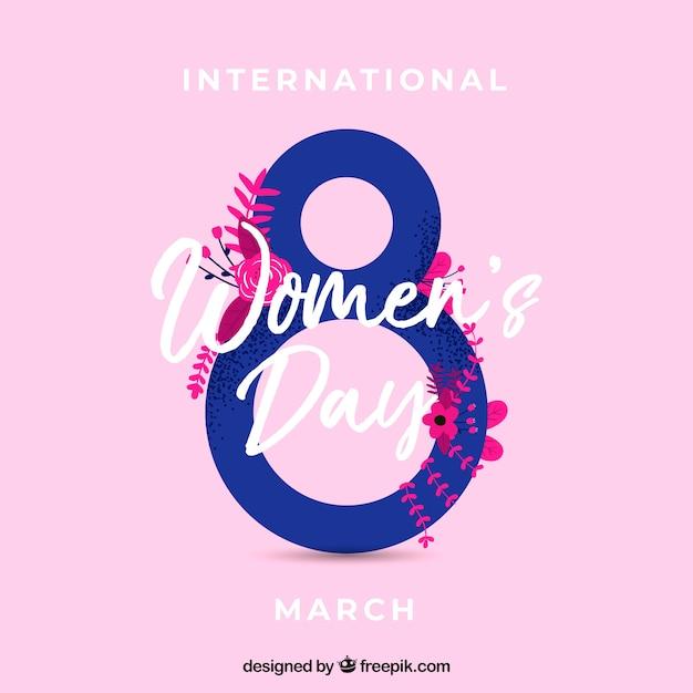 Contexte de la journée internationale de la femme Vecteur gratuit