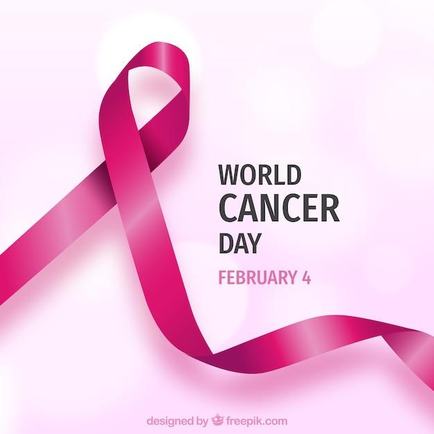 Contexte de la journée mondiale du cancer réaliste Vecteur gratuit