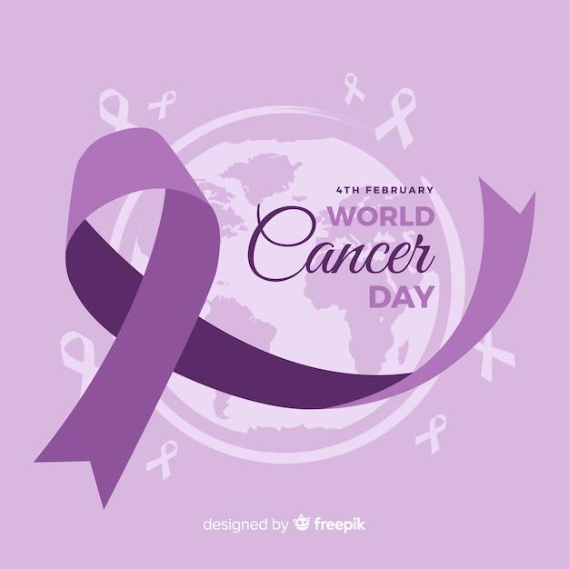 Contexte de la journée mondiale du cancer Vecteur gratuit