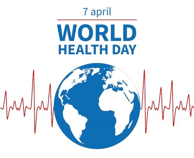 Contexte De La Journée Mondiale De La Santé Vecteur Premium