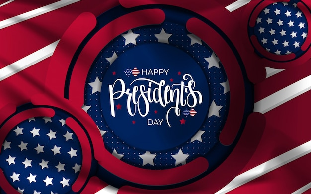 Contexte De La Journée Des Présidents Heureux. Vecteur Premium