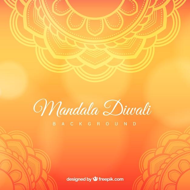 Contexte De Mandala Diwali Ornemental Vecteur gratuit