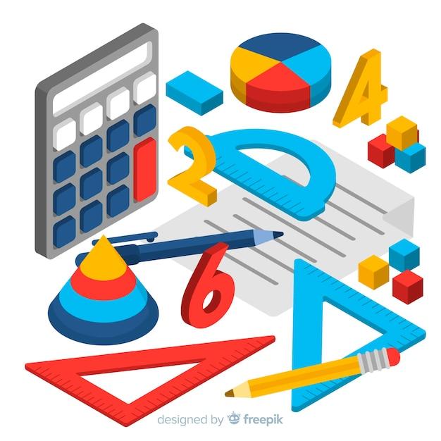 Contexte Mathématique Isométrique Vecteur gratuit