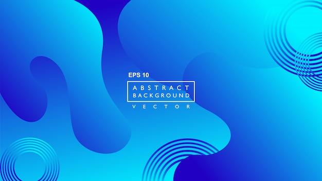 Contexte moderne avec une forme fluide abstraite géométrique. bleu Vecteur Premium