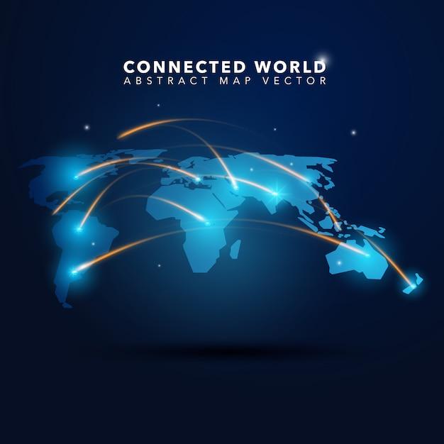 Contexte mondial connecté Vecteur gratuit