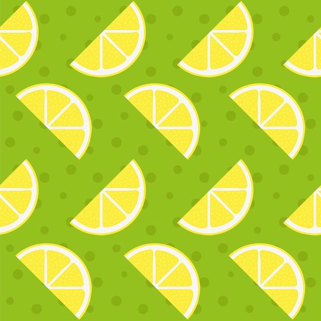 Contexte de motif de citron Vecteur gratuit