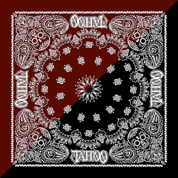 Contexte de motif de tatouage Vecteur gratuit
