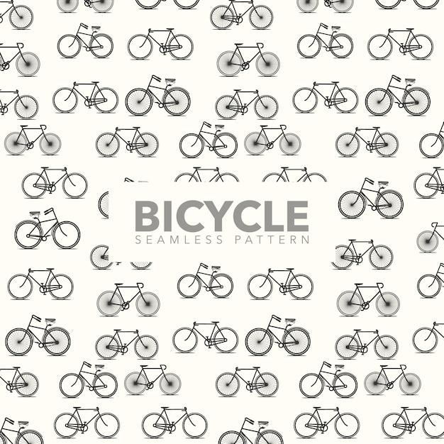 Contexte De Motif De Vélo Vecteur gratuit