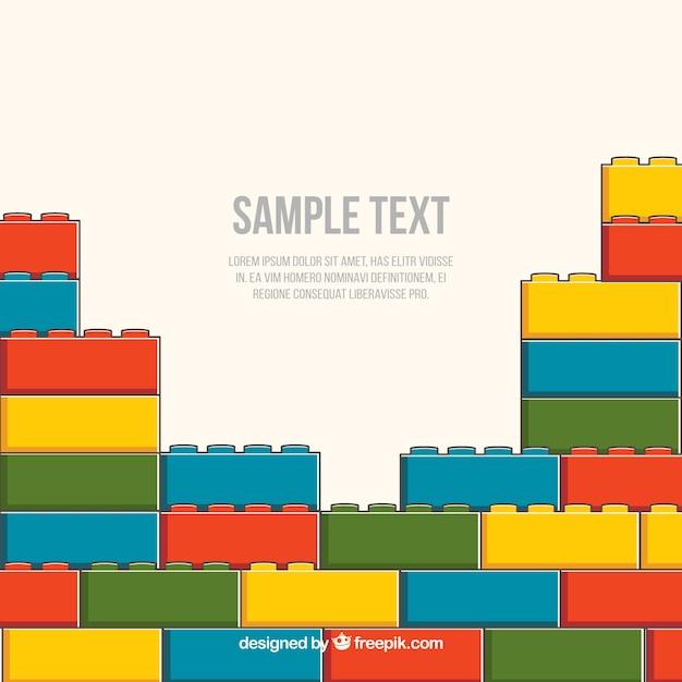 Contexte de pièces en plastique colorées Vecteur gratuit
