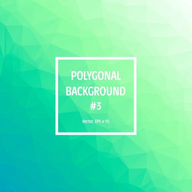 Contexte Polygonal Vert Vecteur gratuit