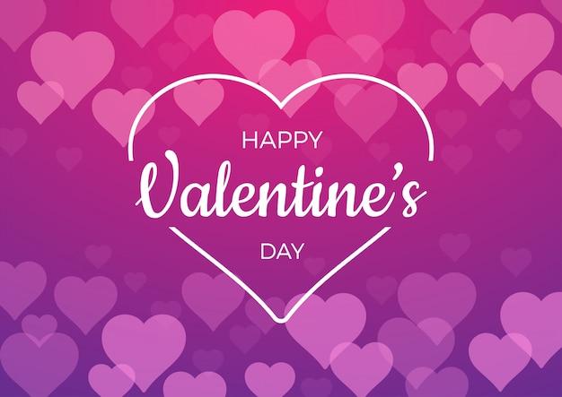 Contexte Pour La Saint Valentin Avec Des Coeurs Roses Vecteur Premium