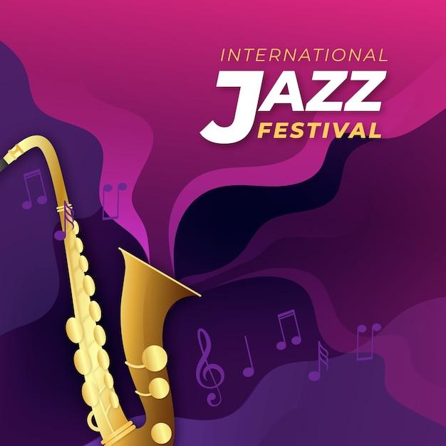 Contexte Réaliste De La Journée Internationale Du Jazz Vecteur gratuit