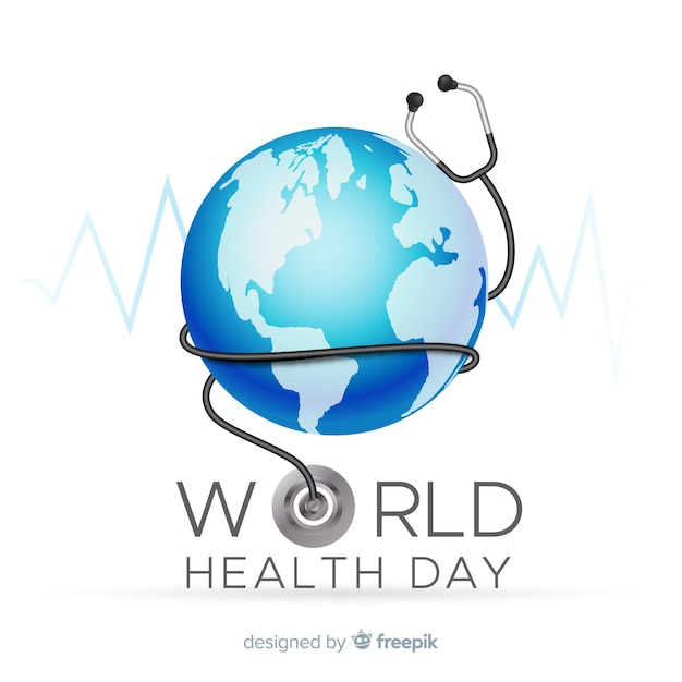 Contexte réaliste de la journée mondiale de la santé Vecteur gratuit