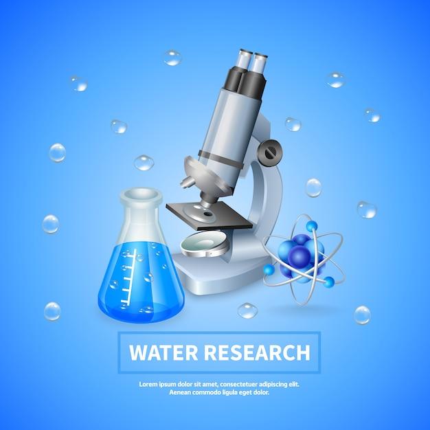 Contexte de la recherche sur l'eau Vecteur gratuit