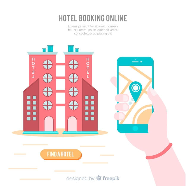 Contexte de réservation d'hôtel Vecteur gratuit