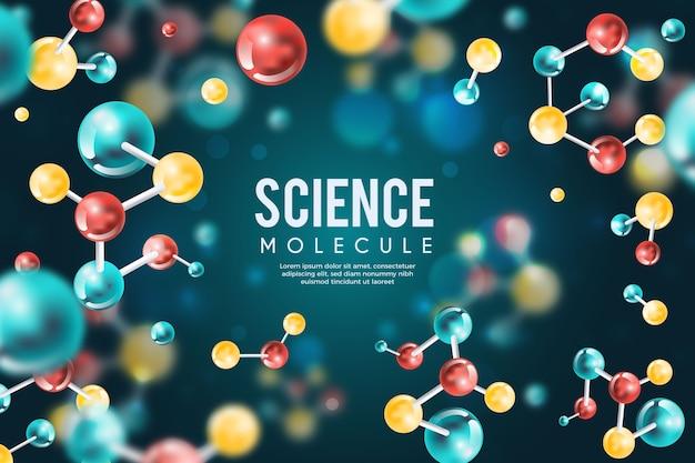 Contexte Scientifique Réaliste Coloré Vecteur gratuit