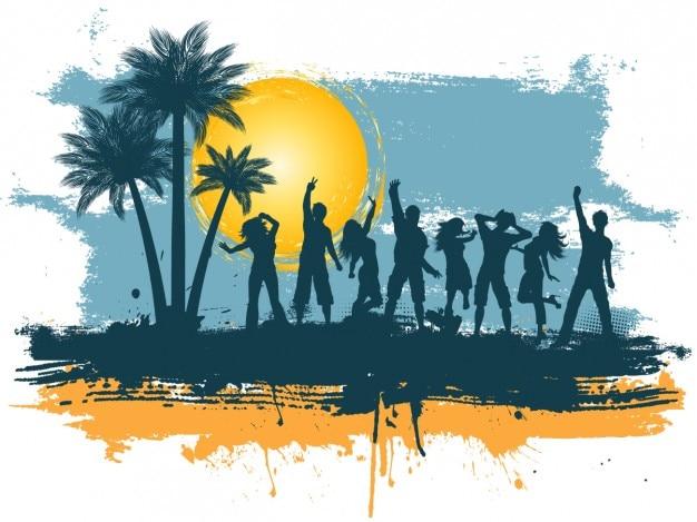 Contexte summertime party Vecteur gratuit