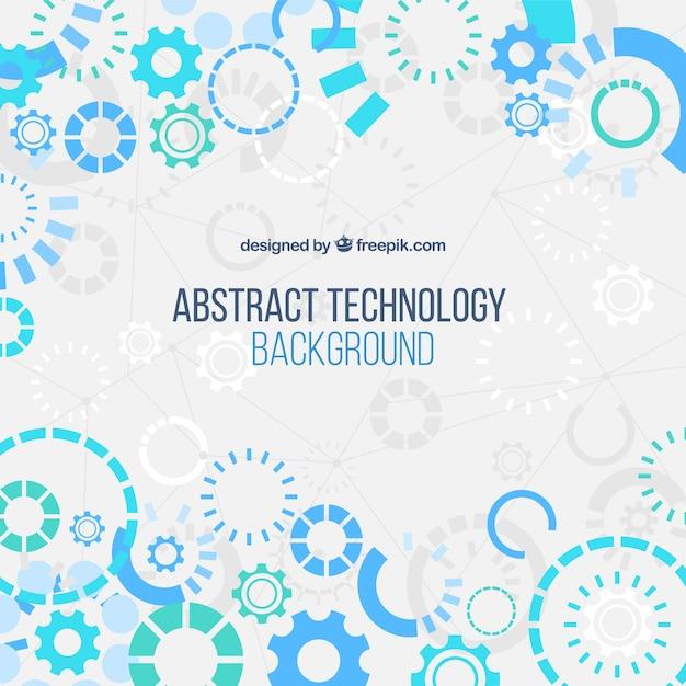 Contexte de la technologie dans un style abstrait Vecteur gratuit