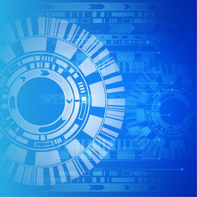 Contexte technologique bleu et blanc Vecteur gratuit