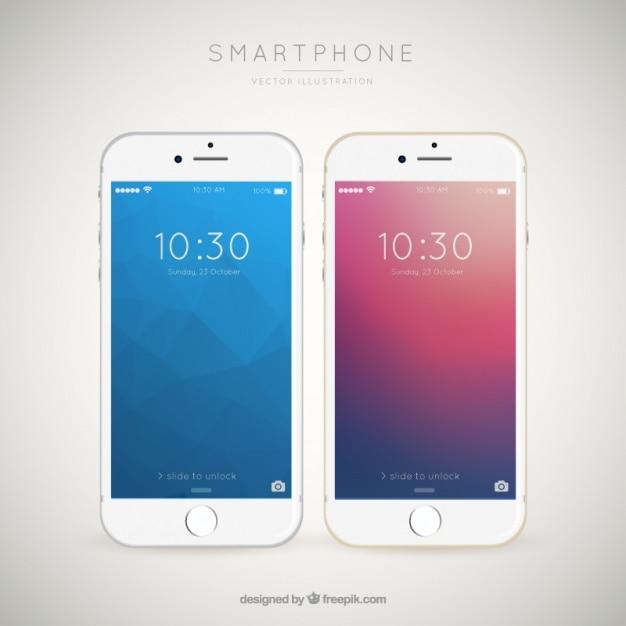Contexte de téléphones mobiles élégants Vecteur gratuit