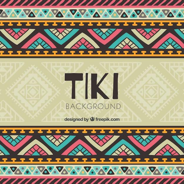 Contexte tiki avec un design tribal coloré Vecteur gratuit