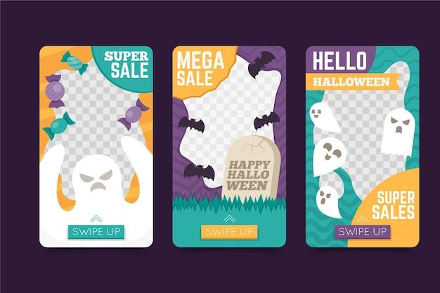 Contexte Transparent Halloween Histoires Instagram Vecteur gratuit