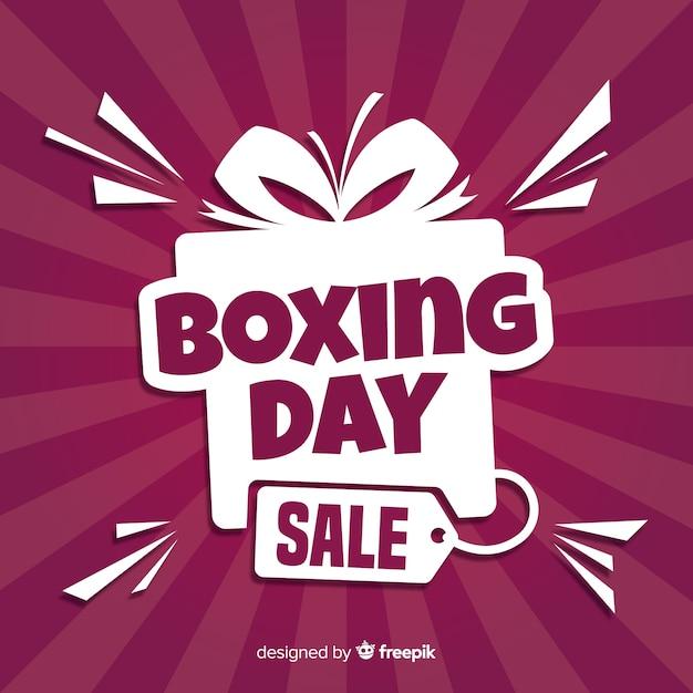 Contexte de vente boxing day Vecteur gratuit