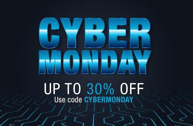 Contexte de la vente de cyber lundi pour la promotion de la bonne affaire Vecteur Premium