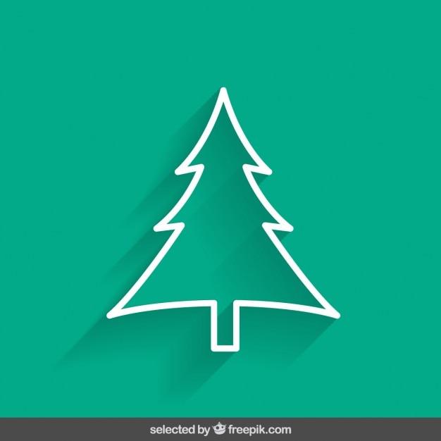 Contour vert sapin de Noël   Télécharger des Vecteurs gratuitement