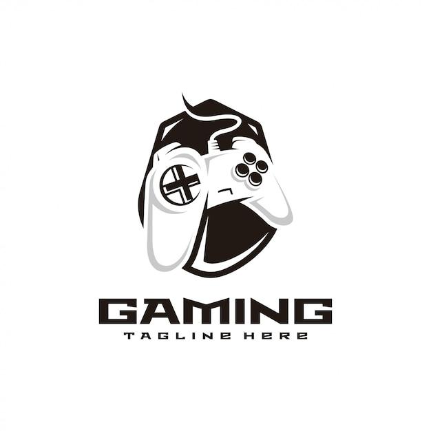 Contrôleur de jeu gaming e sport logo Vecteur Premium
