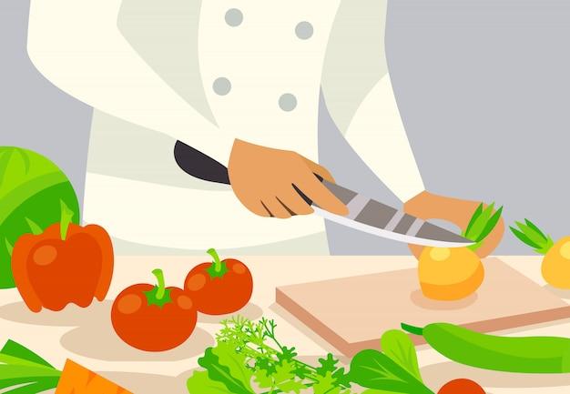Cook background illustration Vecteur gratuit