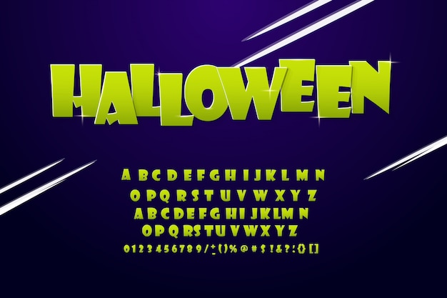 Cool alphabet moderne halloween Vecteur Premium