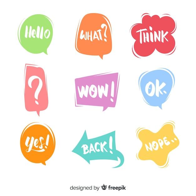 Cool bulles colorées pour le dialogue Vecteur gratuit