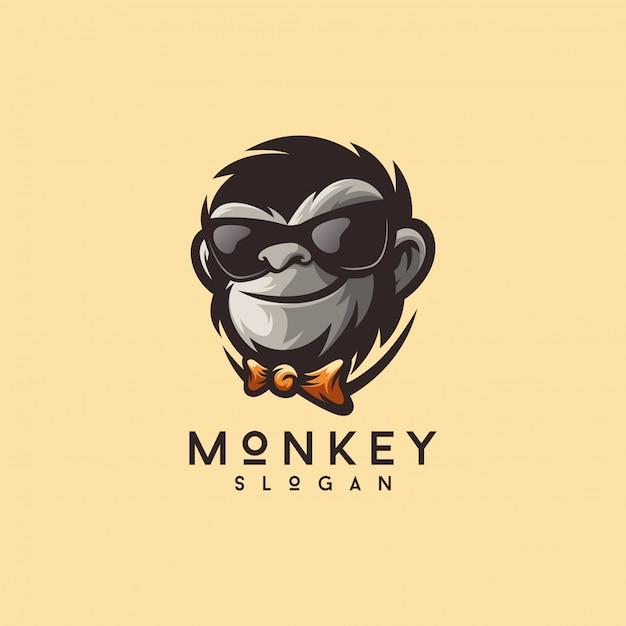 Cool Illustrateur De Vecteur De Conception Logo Singe Prêt à Utiliser Vecteur Premium