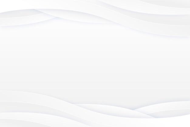 Copier L'espace Fond Blanc Ondulé Vecteur gratuit