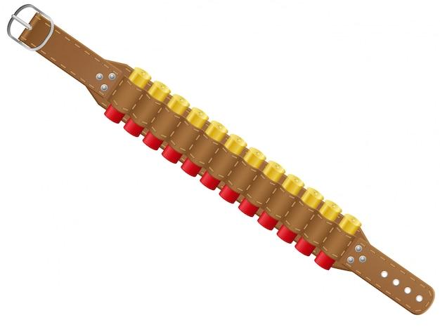 Coquilles de fusil en illustration vectorielle bandoliers Vecteur Premium