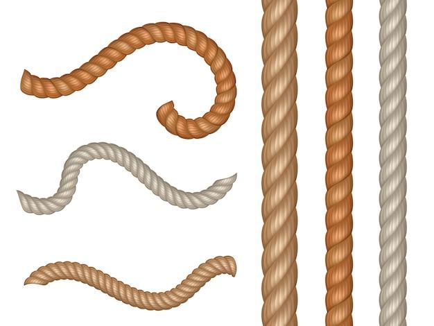 Corde Et Câbles Nautiques Vecteur Réaliste Vecteur Premium