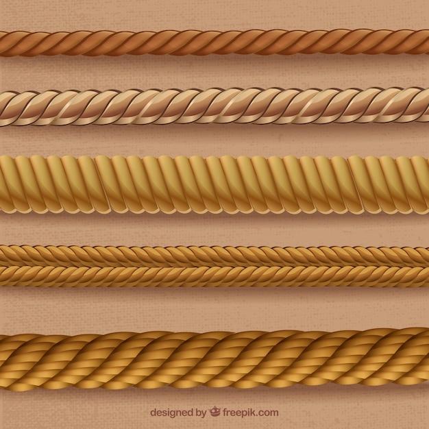 Cordes En Formes De Spirales Vecteur Premium