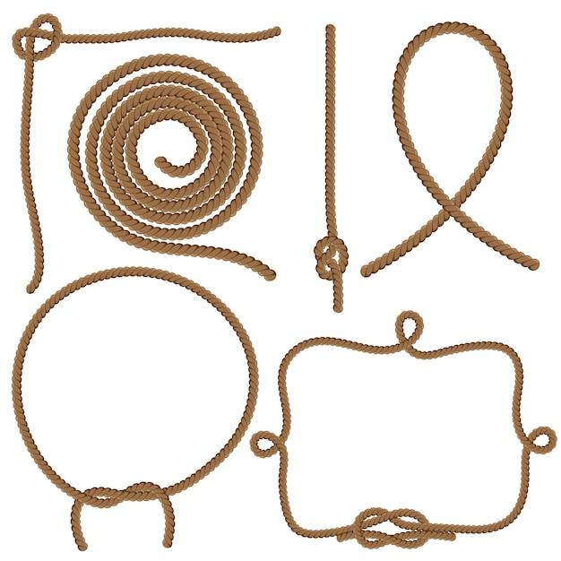 Cordes Et Noeuds Vecteur Premium