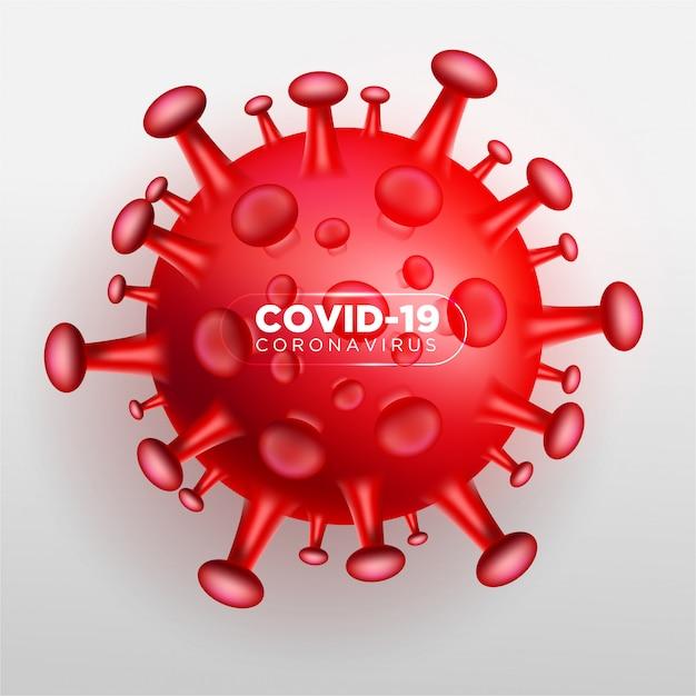 Coronavirus 3d Covid Vecteur gratuit