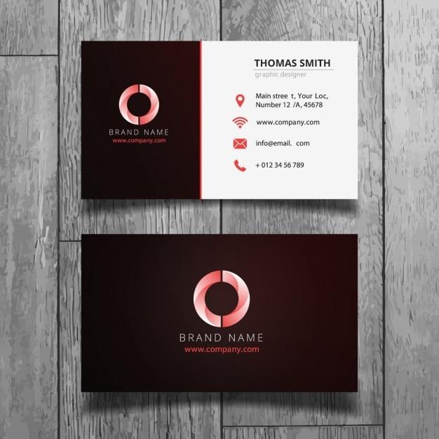 Corporate Design Rouge de carte de visite  Télécharger des Vecteurs gratuitement