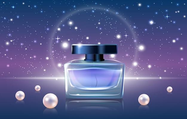 Cosmétiques De Parfum Bleu Vecteur Premium