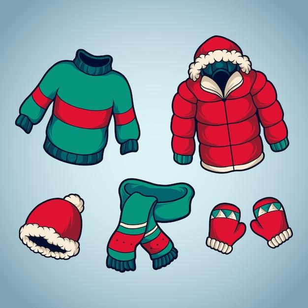 Costume D'hiver Vecteur Premium