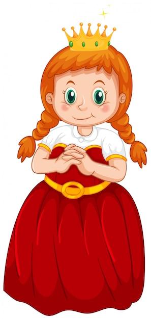 Un costume de princesse mignon Vecteur gratuit