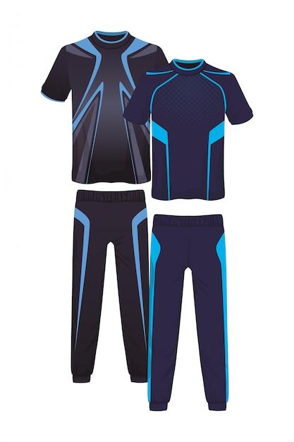 Costume De Sport De Remise En Forme Masculine Vecteur Premium