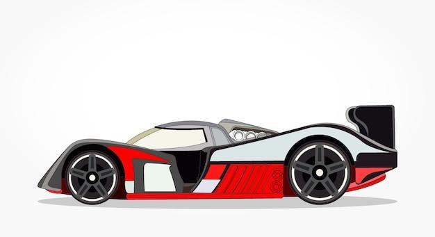 ct dtaill dun dessin anim de voiture de course plat noir orange avec effet - Voiture De Course Dessin Anim