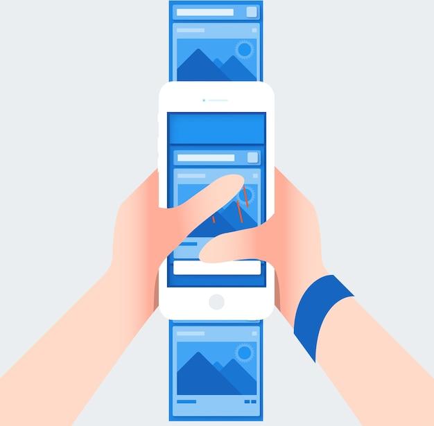 Couche contextuelle de mise en page de médias sociaux avec ton de couleur bleue Vecteur Premium