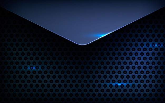 Couche de fond noir avec effet de lumière Vecteur Premium