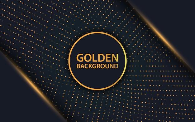 Couche de superposition de luxe noir et fond de paillettes d'or Vecteur Premium