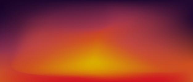 Coucher de soleil dégradé. Vecteur Premium